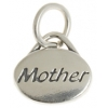 SS.925 Oval Message Charm Mom